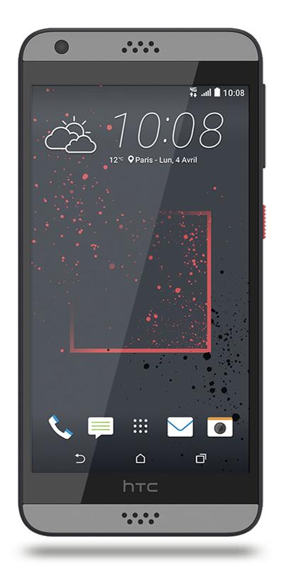 """[Clients - e-Réservation] Smartphone 5"""" HTC Desire 530 Gris - 16 Go"""
