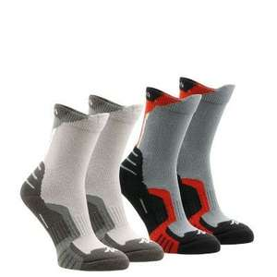Lot de 2 paires de chaussettes de randonnée montagne Crossosks - Tailles enfant au choix