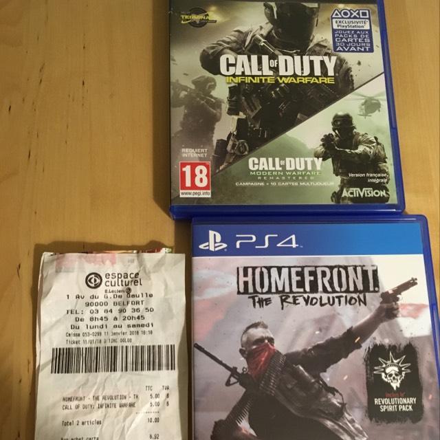 Call of duty Infinite Warafare + Modern Warfare ou Homefront The Revolmution - Belfort (90)