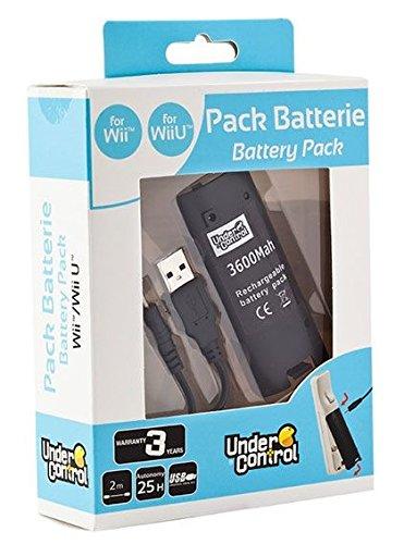 Sélection d'accessoires Wii / Wii U - Ex : Batterie rechargeable 3600 mAh pour Wiimote + câble USB - Bordeaux Mériadeck (33)