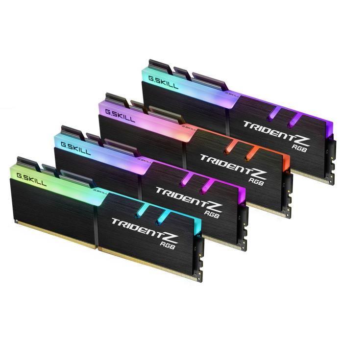Lot de 4 barrette de RAM G.Skill Trident Z (4*8Go) - DDR4, 3000MHz, CL15