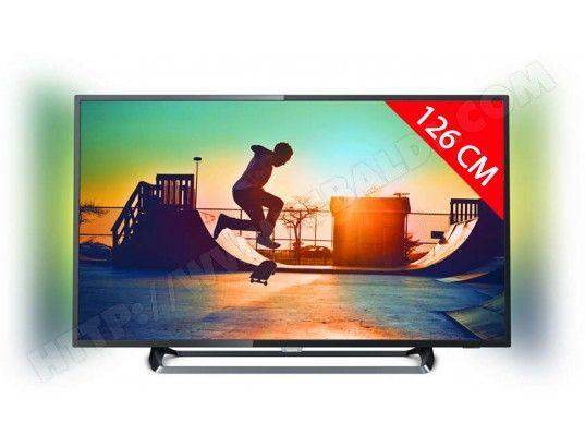 "TV LED 50"" Philips 50PUS6262 - 4K, HDR, Smart TV, Ambilight 2 côtés (Via ODR 50€)"