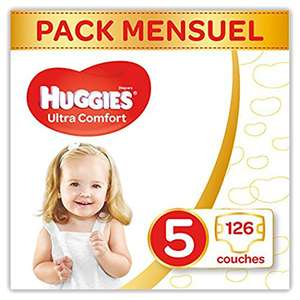 Lot de 126 Couches Huggies Ultra Comfort - Taille 5 (11-25 kg)
