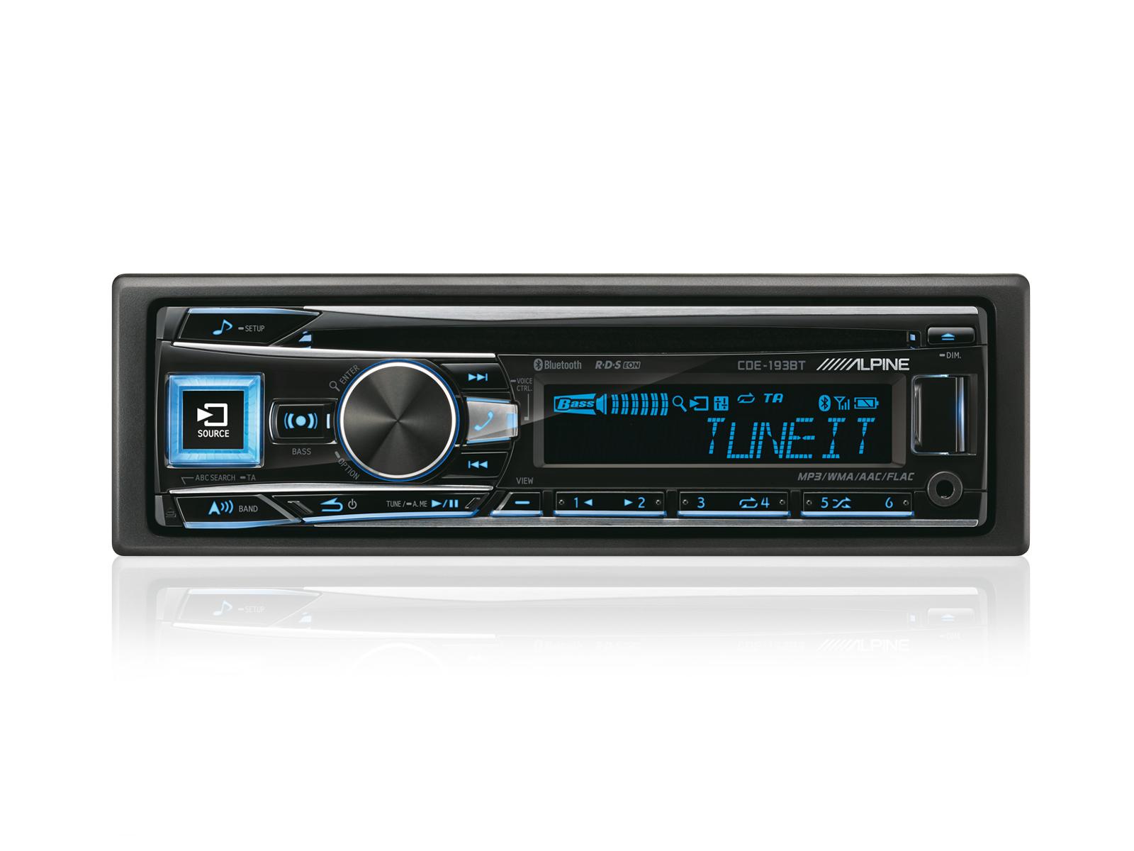 Autoradio Alpine CDE-193BT - Bluetooth, USB, CD