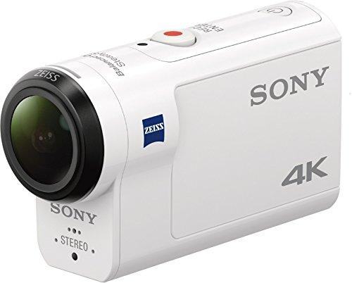 Camera d'action ultra-stabilisée 4K Sony FDR-X3000R + AKA-FGP1 - Blanc