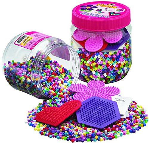 Pot de 4000 perles à repasser + 3 plaques Hama Midi 2051