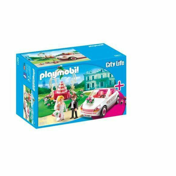 Jouet Playmobil Starter set couple de mariés avec voiture - 6871