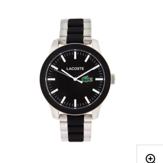 Montre Lacoste.12.12 homme avec bracelet en acier noir