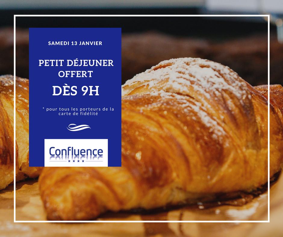 [Carte Fidélité Confluence] Petit dejeuner offert le 13/01 à partir de 9h au Centre Commercial Lyon Confluence (69)