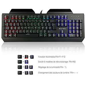Clavier Mécanique RGB AZERTY (Switch Brown)