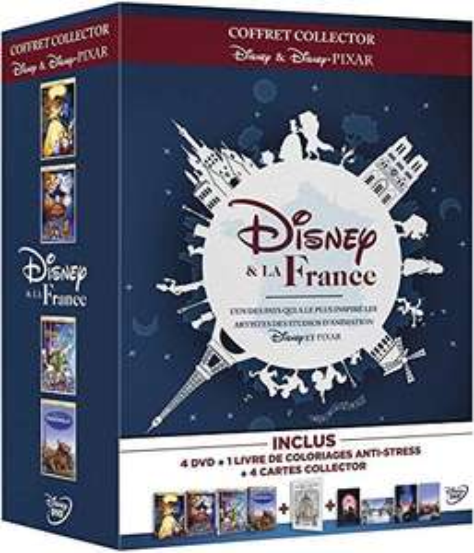 Coffret DVD Disney et la France - Les Aristochats + La Belle et la Bête + Le Bossu de Notre Dame + Ratatouille