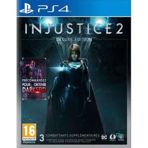 Injustice 2 - Édition Deluxe sur PS4 ou Xbox One Version steelbook