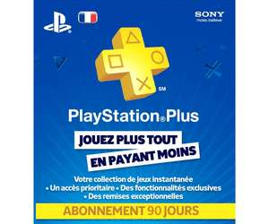 Carte d'abonnement de 90 jours au PlayStation Plus au E.Leclerc Saint-Grégoire (35)