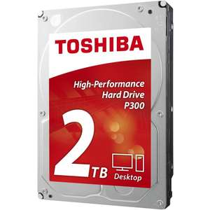 """Disque dur interne 3.5"""" Toshiba P300 - 2 To, 7200 trs/min, 64 Mo de cache (Frontaliers Suisse)"""