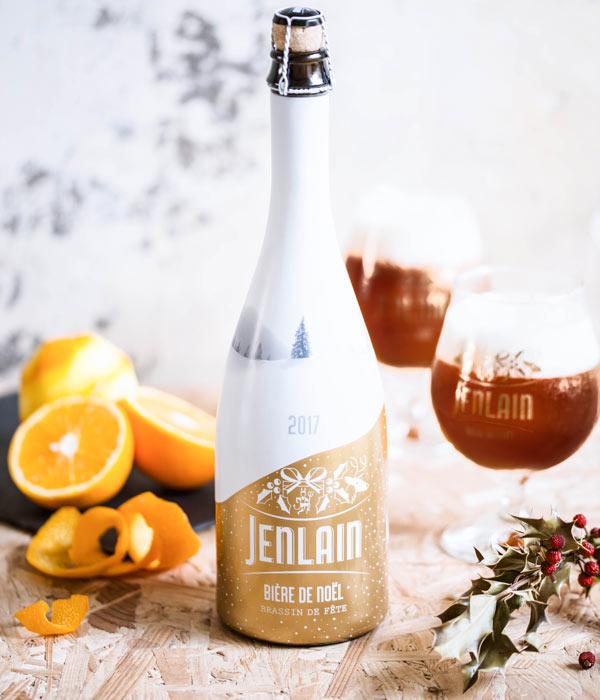 Sélection de bières de noël à -50%. Exemple : Jenlain de Noël - Carrefour Valenciennes (59)