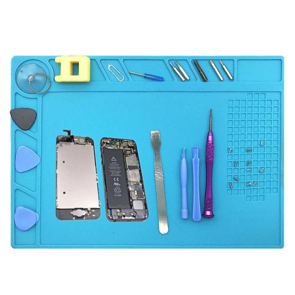 Support en silicone pour réparation de composants électroniques - 33.5x22.7 cm