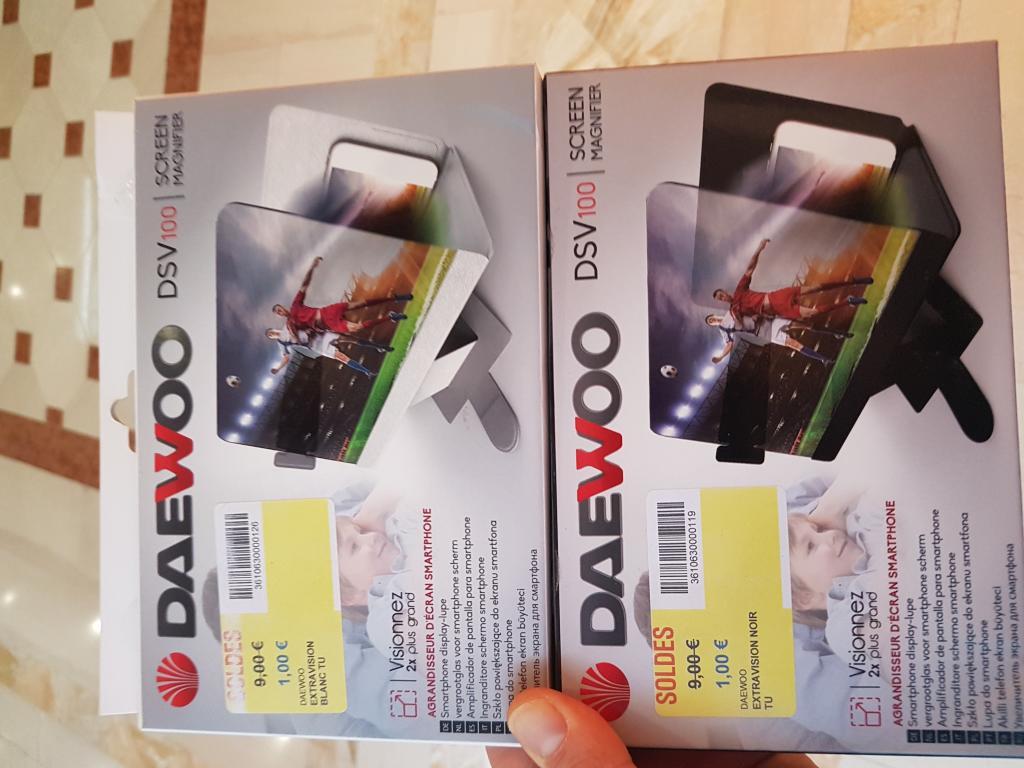 Agrandisseur d'écran Daewoo DSV100 au Carrefour Thiais (94)