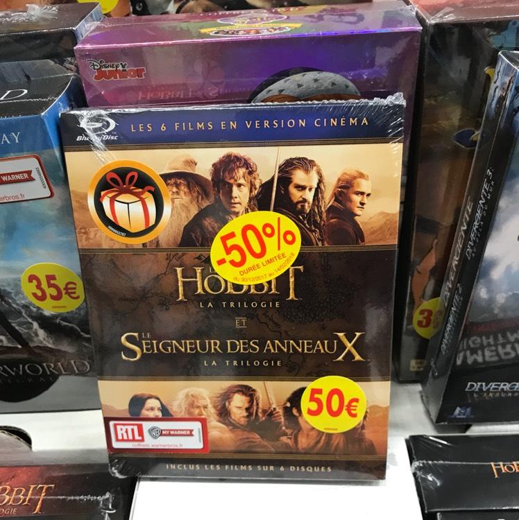 Coffret Blu-ray : Les trilogies The hobbit + Le seigneur des anneaux - Géant de Saint-Doulchards (18)
