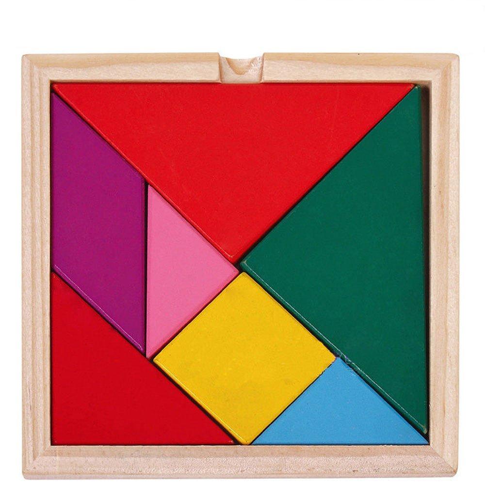 Puzzle en bois Tangram - muli-colore