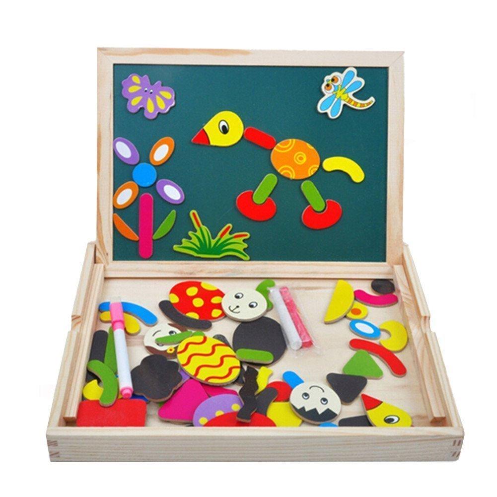 Planche à dessin en bois magnétique, tableau, planche à dessin - 70 pièces (vendeur tiers)