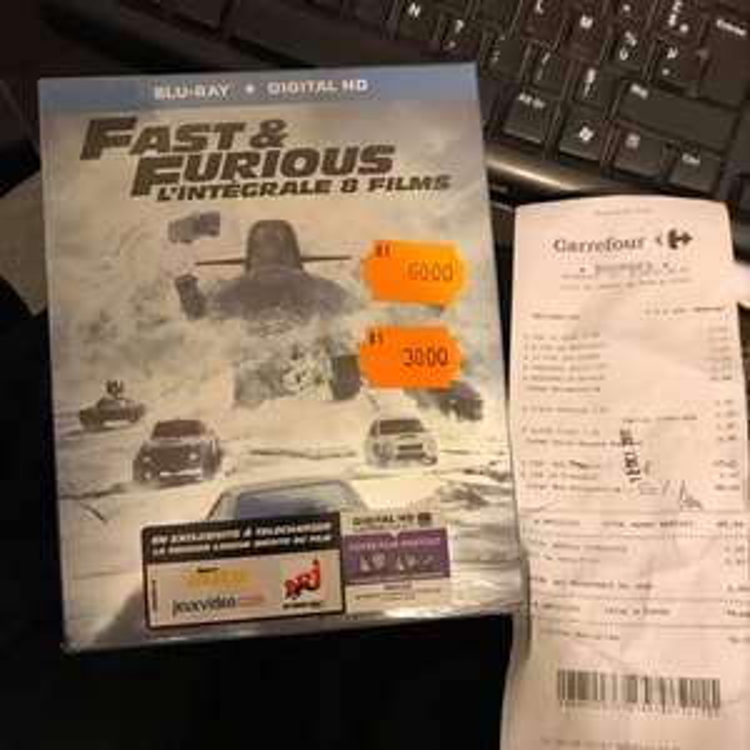 Coffret Blu-ray Fast & Furious - L'Intégrale 1 à 8 au Carrefour Bourges (18)