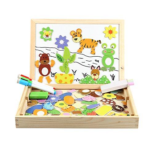 Puzzle en bois magnétiques + tableau double-face pour enfant InnooTech - 100 pièces (vendeur tiers)