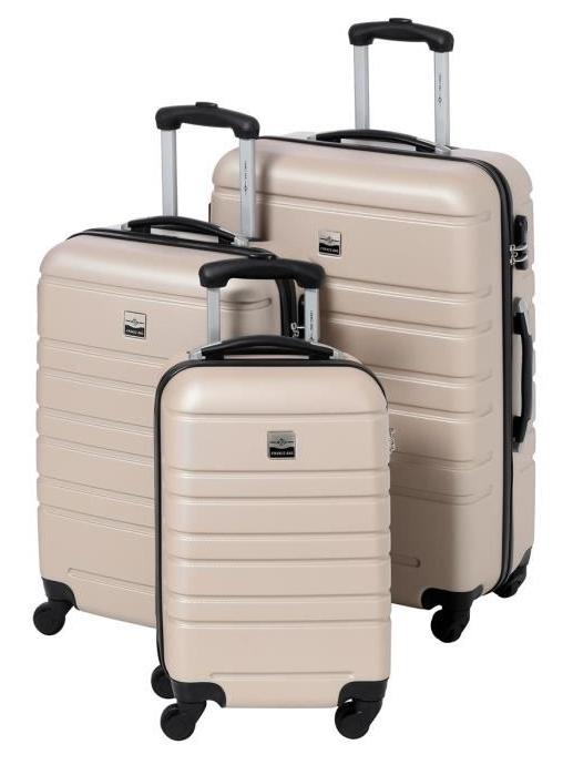 Set de 3 Valises Rigides France Bag - ABS, 4 Roues, 55-65-70cm