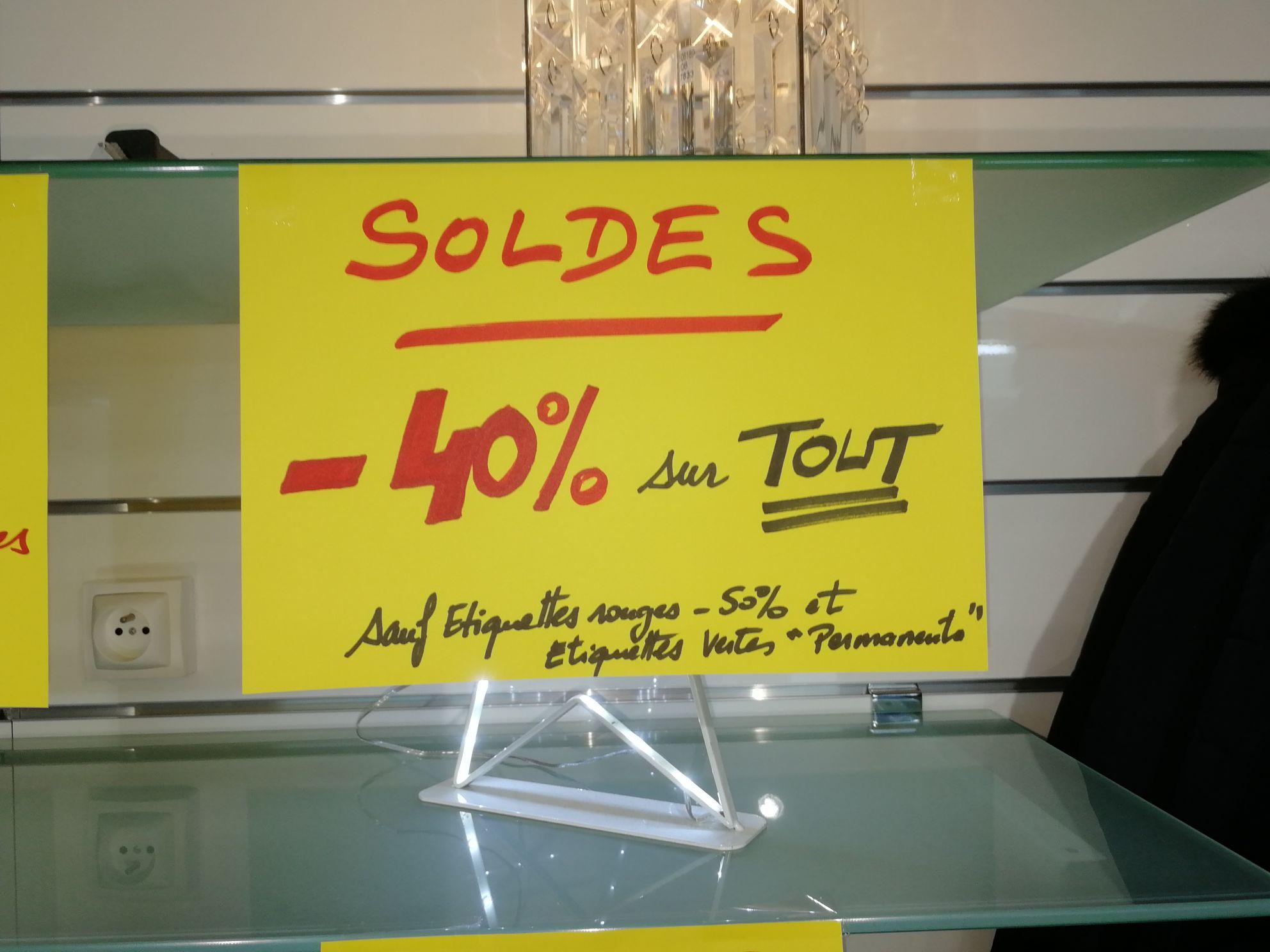 40% de réduction sur tout le magasin - Escapade Dunkerque (59)