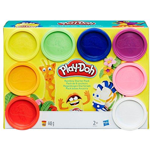 Lot de 8 pâtes à modeler, Arc-en-ciel Hasbro Play-Doh A7923EU6