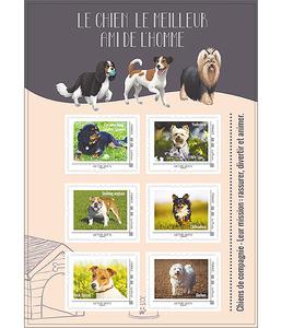 """Sélection de timbres collector en promotion - Ex: 6 timbres """"Chiens de compagnie"""""""