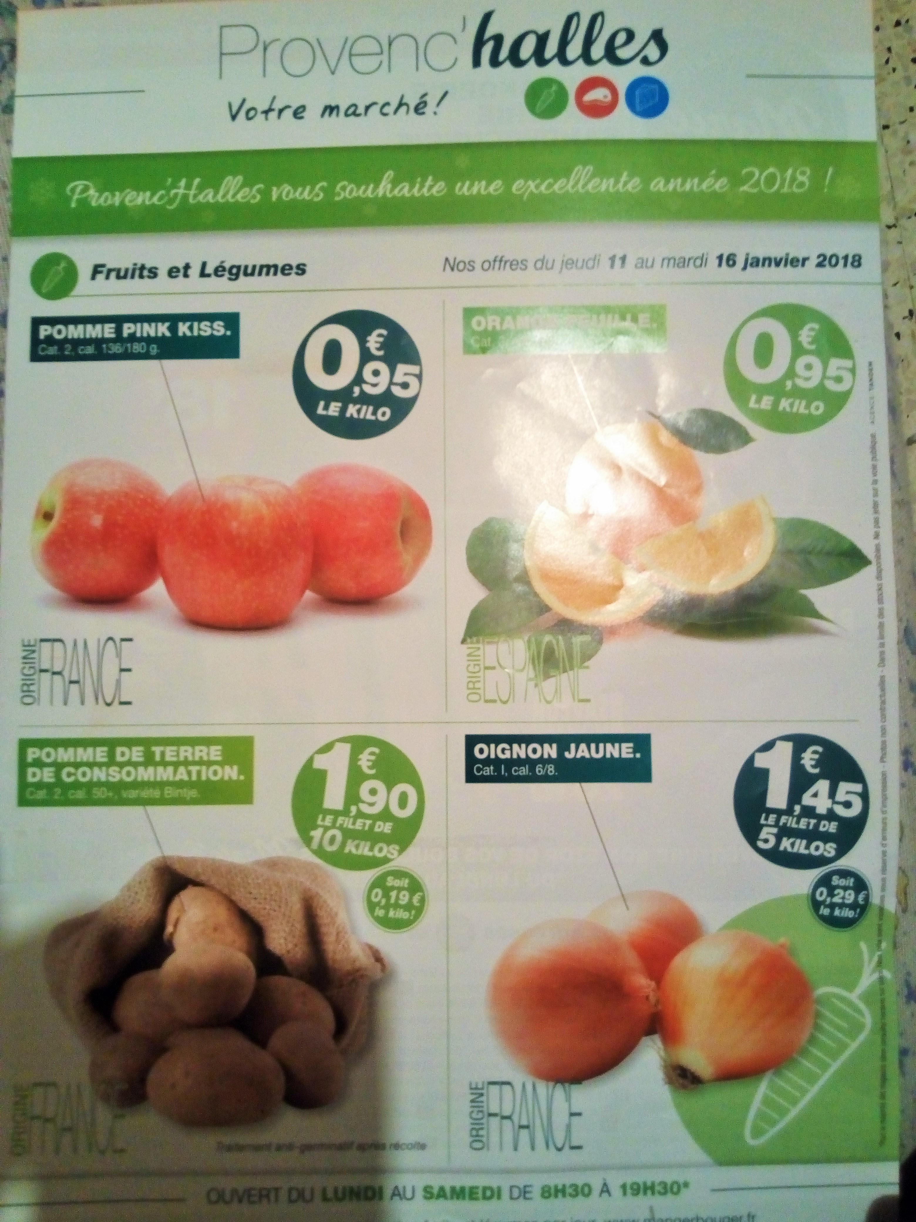 Sélection de produits en promotion - Ex: Filet d'oignon de 5 Kilos - Provenc'Halles