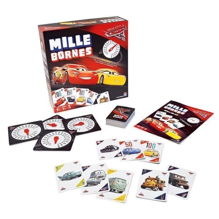 Jeu de cartes Dujardin Mille Bornes Cars 3