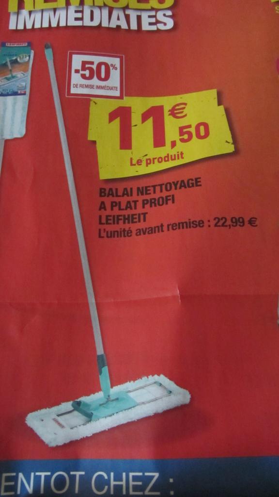 Balai plat Leifheit Profi 55048 avec housse en microfibre (42 cm)