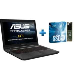 "PC Portable 15.6"" Asus FX503VM-DM033T - Full HD, i7-7700HQ, RAM 8Go, GTX 1060 3Go, SSHD 1To + SSD 240Go M2"