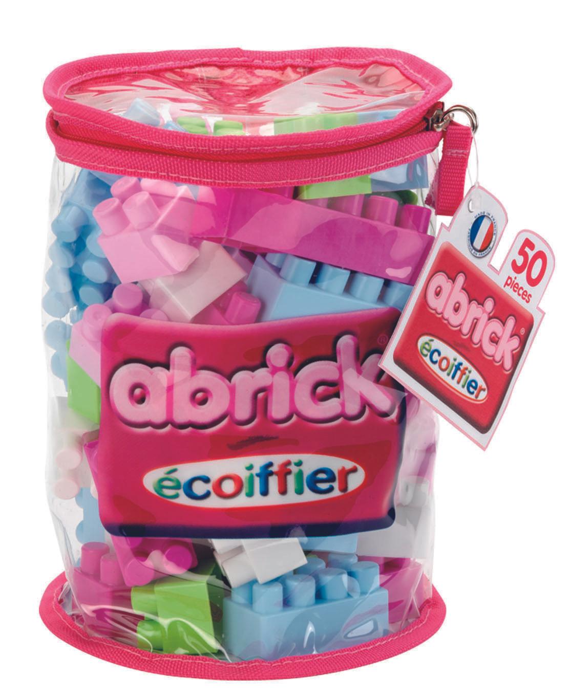 Sac Tube Ecoiffier Abrick 485 Rose - 50 Pièces