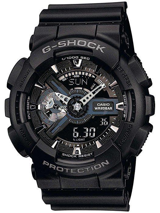 [Prime] Montre Analogique/Digitale Quartz Casio G-Shock  GA-110-1BER pour Hommes  avec Bracelet en Résine