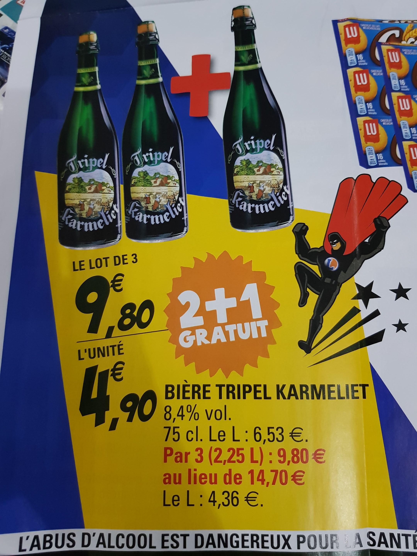 3 bouteilles 75cl de bière Triple Karmeliet