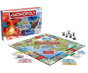 Sélection de jeux de société Monopoly en promotion - Ex : Winning Moves Monopoly Pokémon - Édition de Kanto (VF)