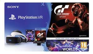 Casque de réalité virtuelle Playstation VR (V1) + Camera (V2) + VR worlds + GT Sport