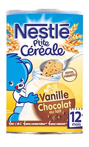 [Panier Plus] Lot de 4 boites Nestlé Bébé P'tite Céréale Chocolat au Lait Vanille