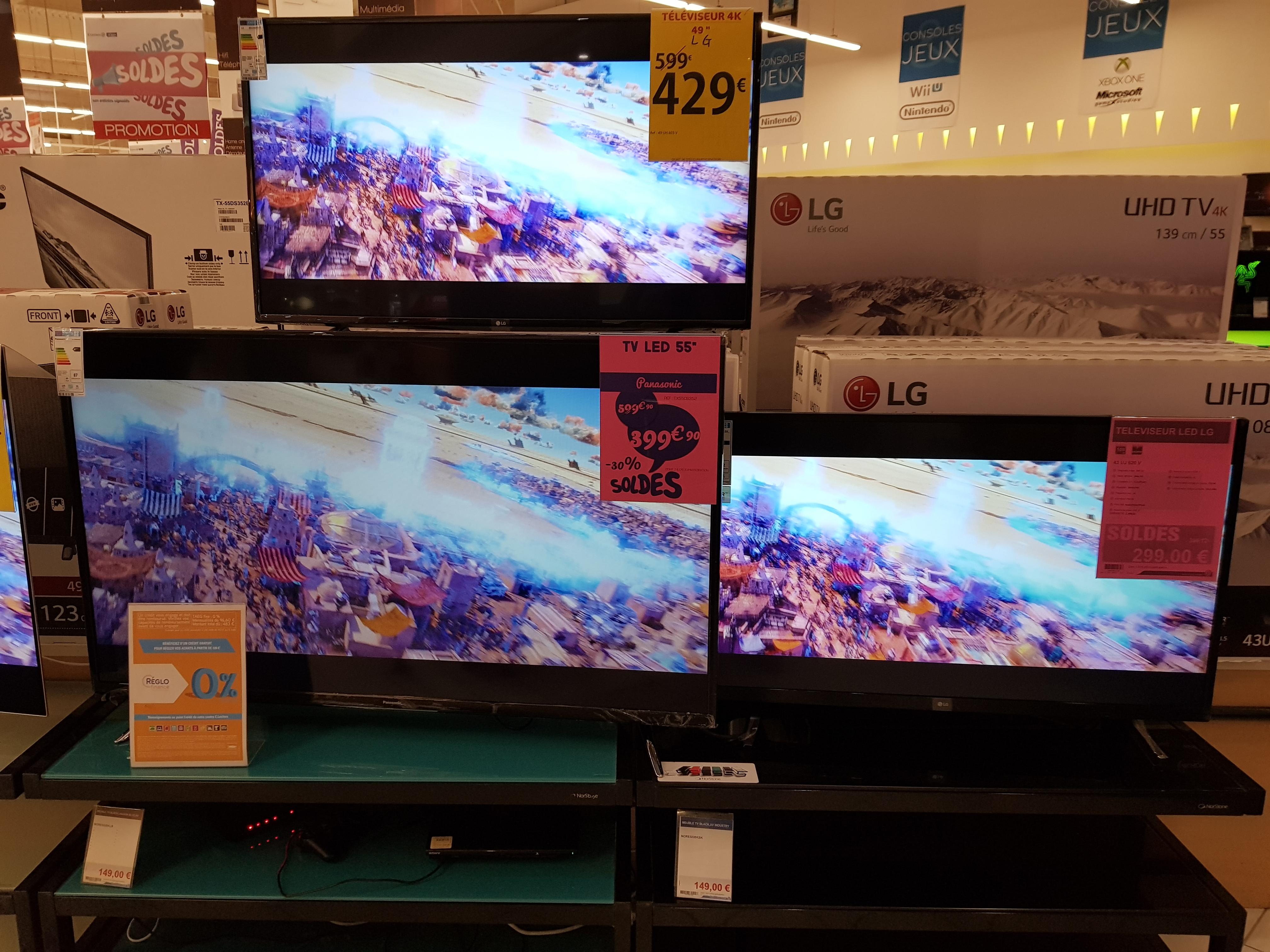 """TV 43"""" LG 43UJ620V - LED, 4K UHD, HDR - Rezé Océane (44)"""