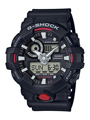 Casio G-Shock Montre Homme Analogique/Digitale Quartz avec Bracelet en Résine – GA-700