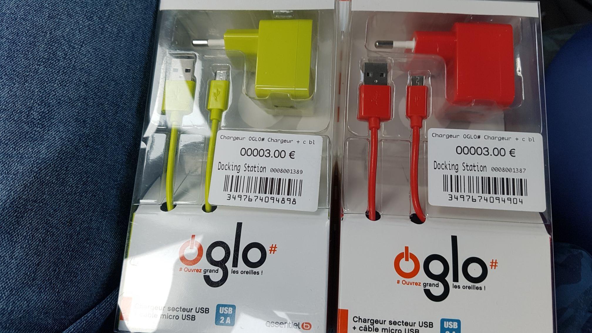 Chargeur + câble USB essentiel B (charge rapide)