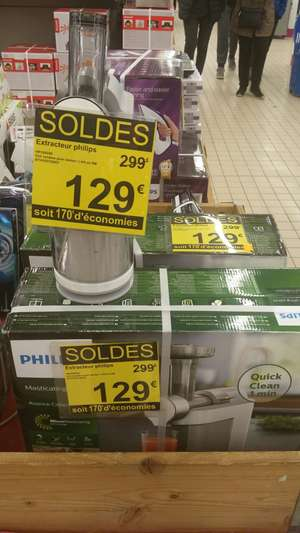Extracteur de jus Philips HR1895/80 - Carrefour Echirolles (38)