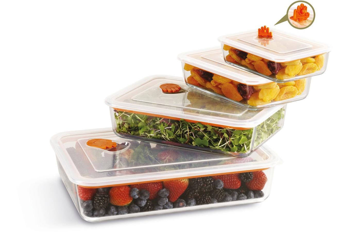 Set de 4 plats à four rectangulaires avec couvercle