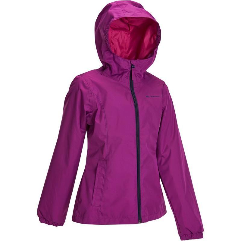 Veste imperméable fille Quechua Hike 500 - Violet