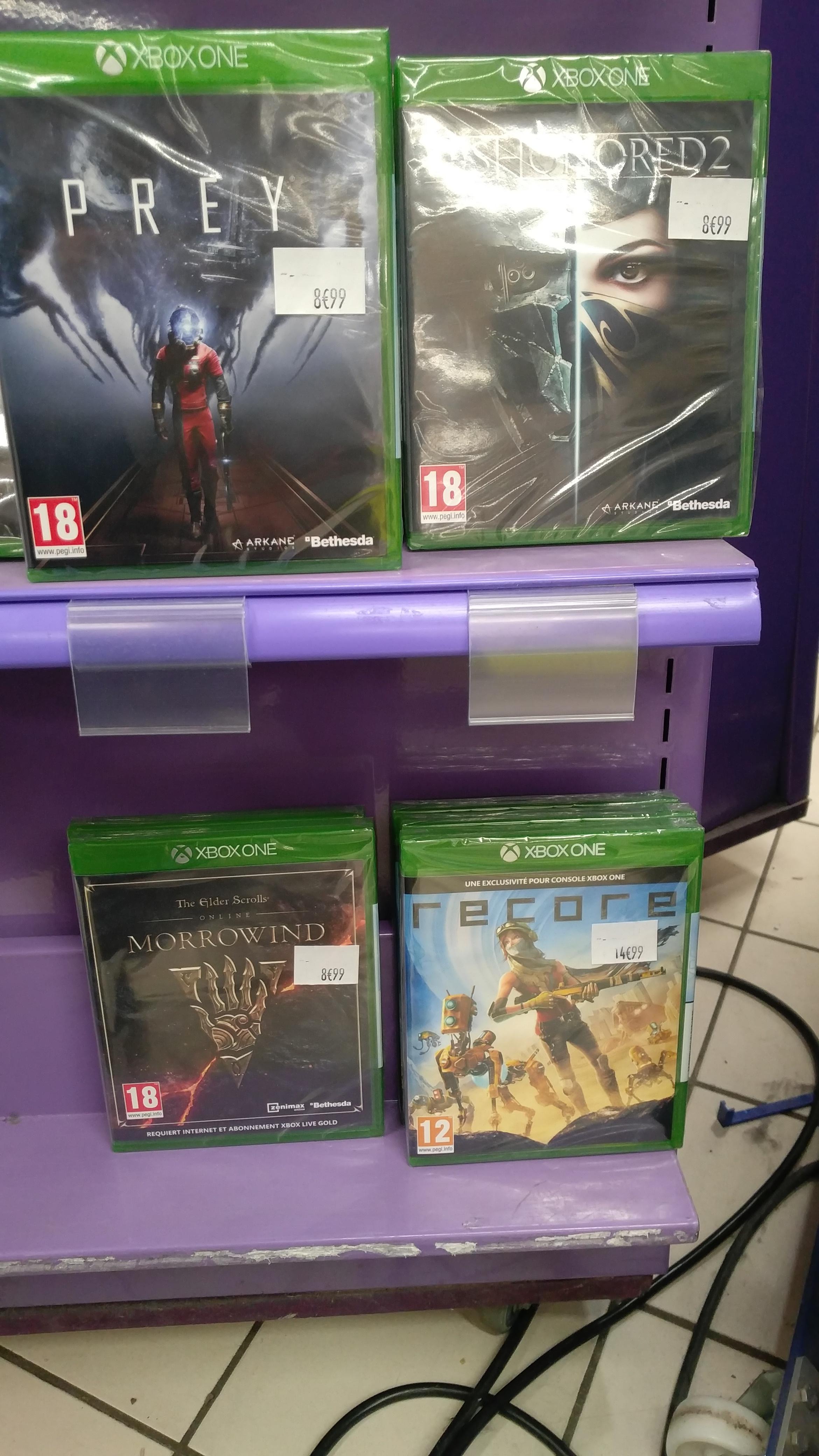 Sélection de jeux PS4 et Xbox One en promotion - Ex: Prey et Dishonored 2 (Faches - 59)