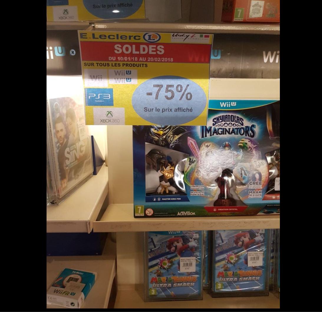 Sélections de jeux et accessoires en promotion -75%  -Ex  Mario Tennis sur Wii U - Clichy Sous Bois (93)
