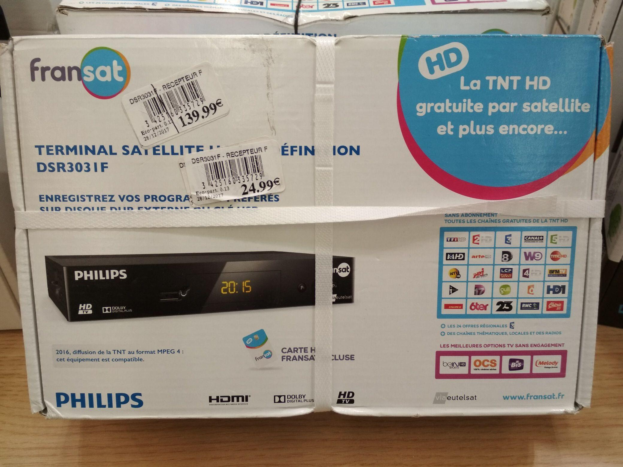 Récepteur TNT par satellite Philips DSR3031F Fransat - Villeneuve-d'Ascq (59)