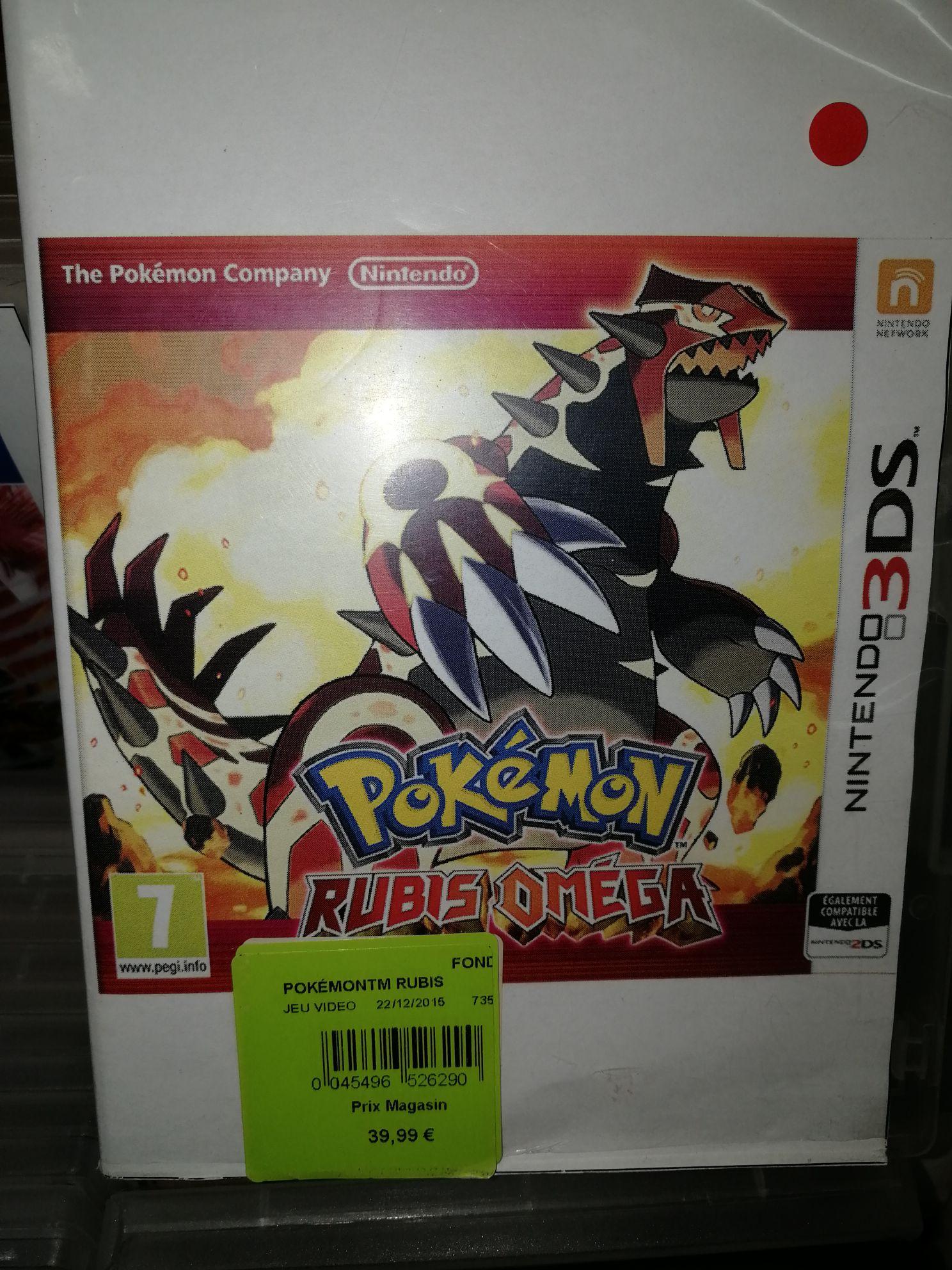 Jeu Pokémon Rubis Omega sur 3DS - Le Furêt du Nord (59)